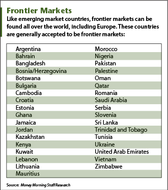 Investing in frontier markets