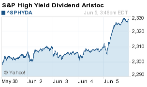 high yield dividend aristocrats