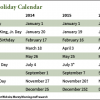New York Stock Exchange Holiday Calendar