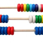 isolated toy abacus