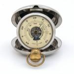 Old pocket barometer altimeter