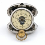 Old pocket barometer altimeter