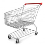 Shopping cart left