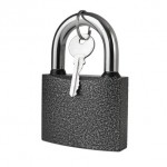 padlock  isolated on white background