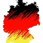 isolated map of germany 03