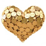 heart gold coins