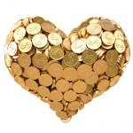 heart gold coins
