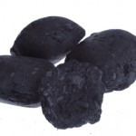 isolated  coal, carbon nuggets