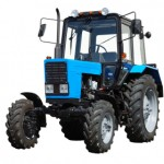 New tractor on white background