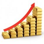 Bar chart from gold ingots