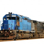 Two locomotives isolated