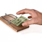 Financial Mouse trap (with hand)