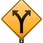 Road sign split Q