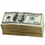 Currency USD stack of hundies Q