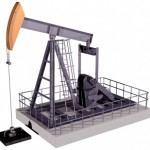 Isolated Oil Rig