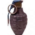 Hand Grenade - Clipping Path