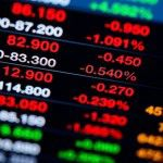 Stocks down red numbers