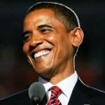 obama smiling