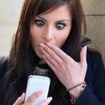 Facebook surprised woman shock