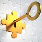 golden key puzzle lock