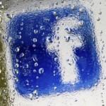 Facebook logo water fog