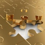 gold puzzle pieces