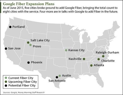 what is google fiber map