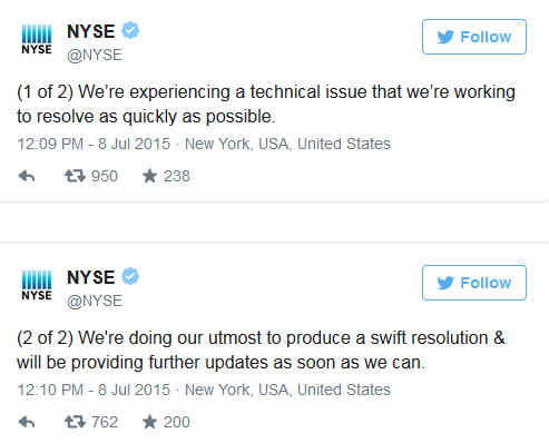 Why Did the NYSE Shut Down Today?
