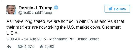 Donald Trump on Black Monday