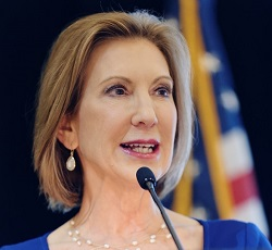 Carly Fiorina at a Republican Party conference in June 2015