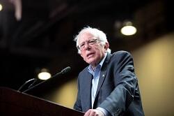 Vermont Senator and Democratic presidential hopeful Bernie Sanders campaigning in Phoenix, Ariz.