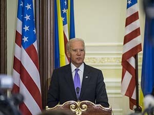 Vice President Joe Biden in Kiev, Ukraine, Nov. 21, 2014