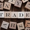 Trade spelled on cubes