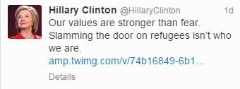 Clinton-Tweet