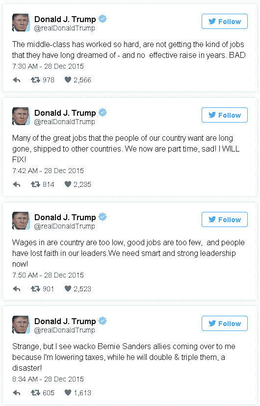Trump's wage comments