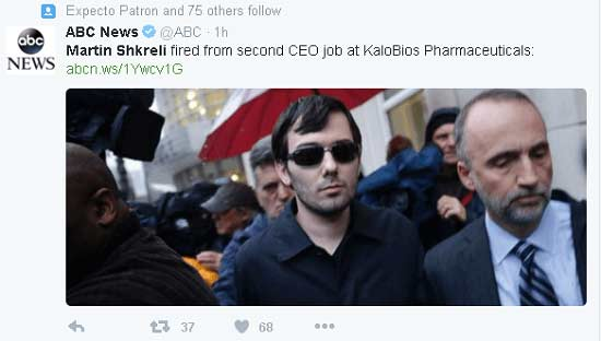shkreli-fired-tweet
