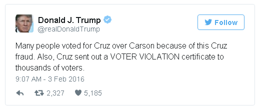 Ted Cruz voter fraud