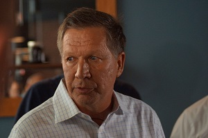 John Kasich is in second place