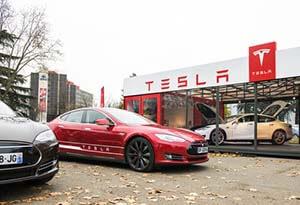 the tesla motors stock price falls 13% this week