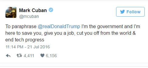 Mark Cuban: Trump Will End U.S. Tech Supremacy
