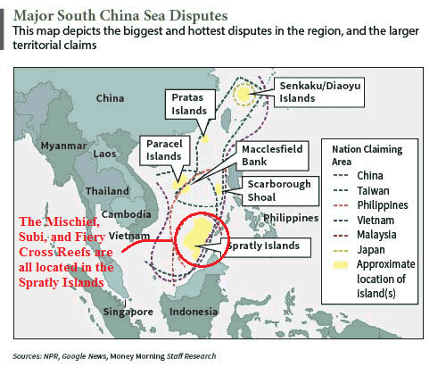 Satellite Images Show China Building Massive Military Hangars in South China Sea