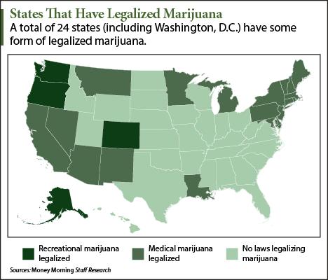 Medical Marijuana States Map 2016.Map States That Have Legalized Marijuana