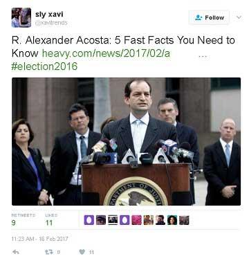who is alexander Acosta