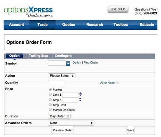 Scottrade uncovered option trading