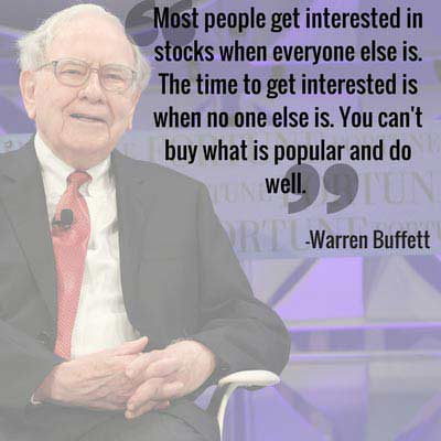 Warren Buffett quotes on investments