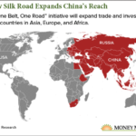 one belt one road map