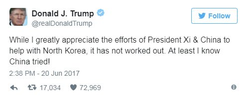What You Missed in Trump's Tweet About China's Failure
