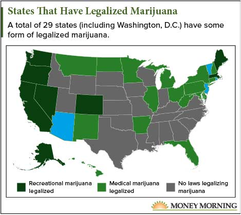 These Four States Could Legalize Recreational Weed in 2018 MAP