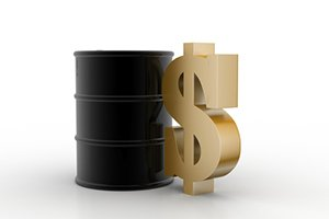 Dollar Sign and Oil Barrel