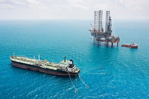 Oil Tanker Rig Gulf